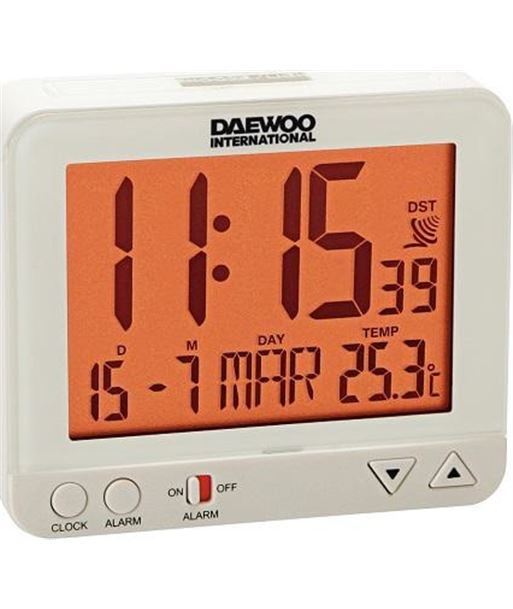 Daewoo radio reloj despertador daewo dcd200w dbf121 - 8413240574637