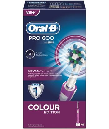 Cepillo dental Braun pro600 morado cross action pro600morado