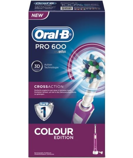 Cepillo dental Braun pro600 morado cross action pro600morado - 4210201105459