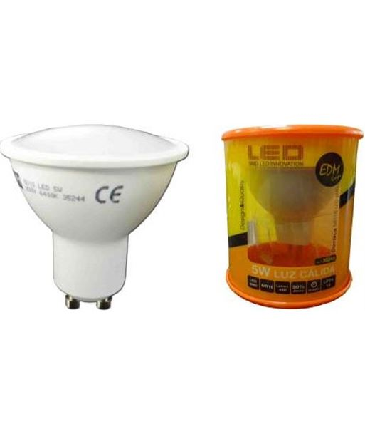 Lampara led Elektro gu-10 5w 3200k luz calida 35243 - 8425998352436