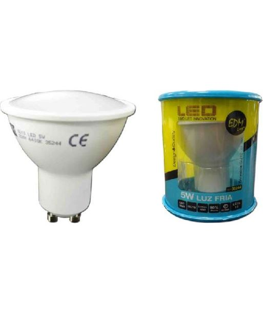 Lampara led Elektro gu-10 5w 6400k luz calida 35244 - 8425998352443