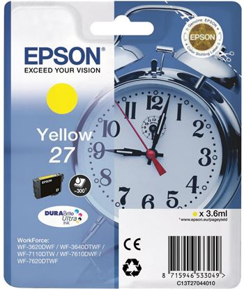 Tinta amarilla Epson 27 c13t27044010