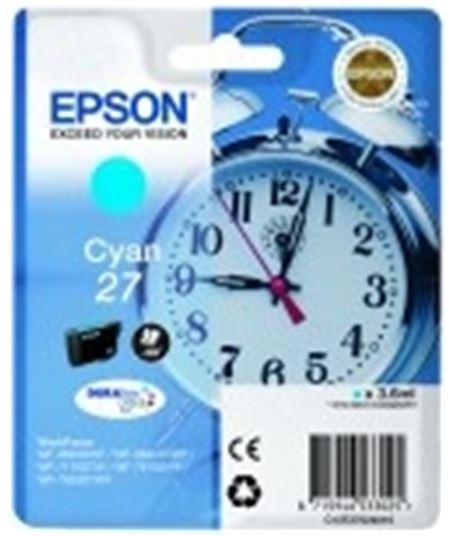 Tinta cian Epson 27 c13t27024010 - 8715946533025