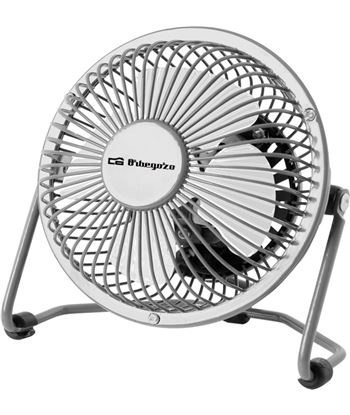 Orbegozo mini ventilador sobremesa gris ORBPW1019