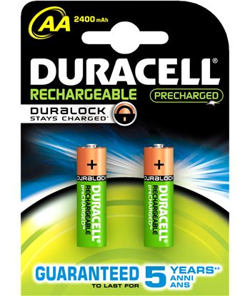 Duracel pack 2 pilas recargable aa (lr 06) duralock 2400 aa(lr06)b2-sc - 5000394056978