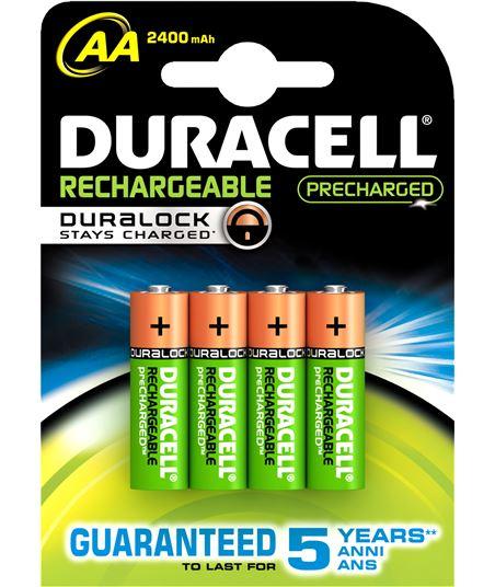 Duracel pack 4 pilas recargable aa (lr 06) duralock 2400 durlr06duralokb