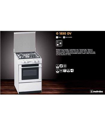 Meireles G1530DVW cocina gas 3z (1 triple) bca. Cocina - G1530DVWBUT