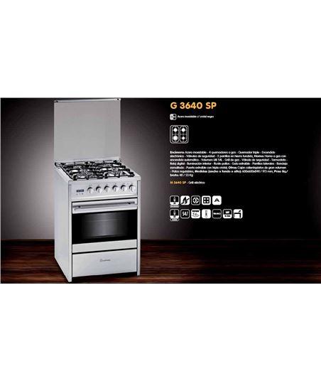Cocina convertical  Meireles g3640spxnat, 4 fuegos,naturl - G3640SPXNAT