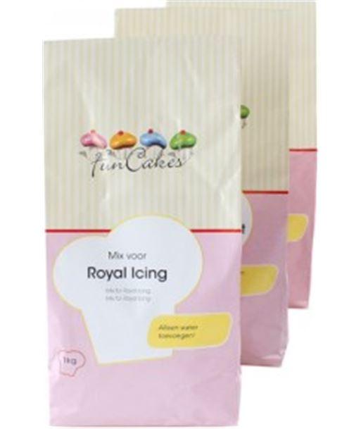 Mix royal glass 1kg Funcakes (glasa real) A9650348 - 8718274810585