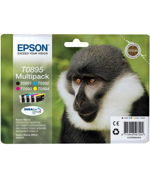 Multipack tinta Epson .895. EPSC13T08954010 Consumibles - 8715946507224