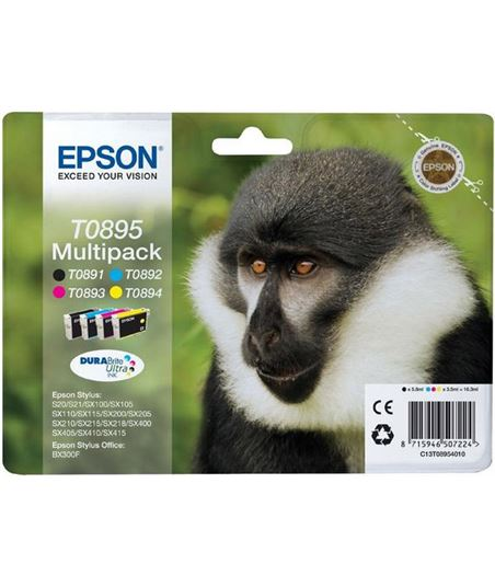 Multipack tinta Epson .895. C13T08954010 - 8715946507224