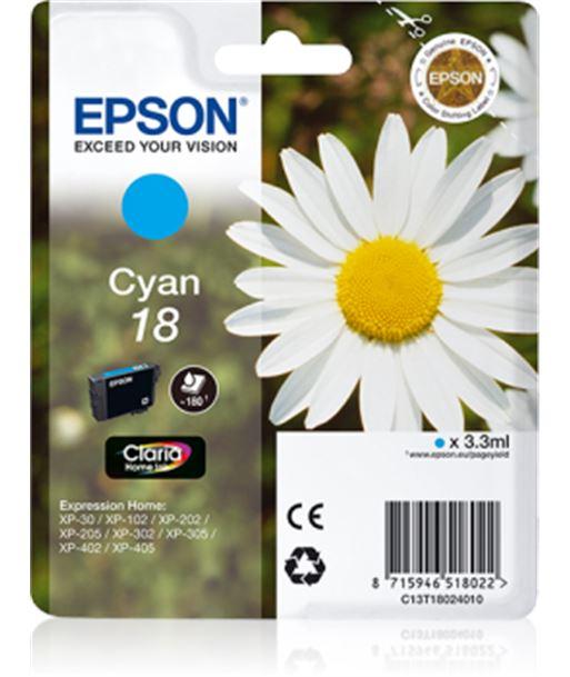 Tinta cian Epson 18 claria home C13T18024010 Consumibles - 8715946518022