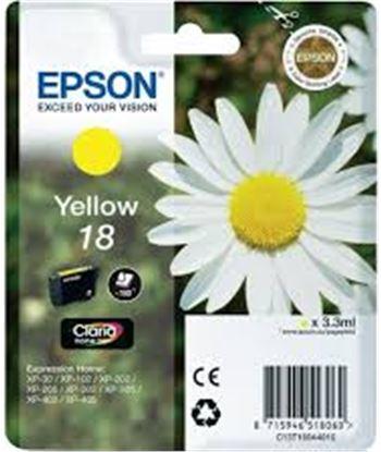 Tinta amarilla Epson 18 claria home C13T18044010 Consumibles - C13T18044010