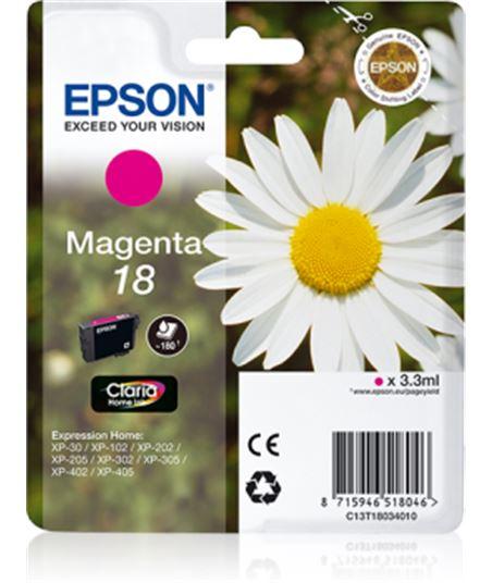Tinta magenta Epson 18 claria home C13T18034010 Perifericos y accesorios - 8715946518046