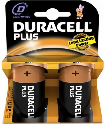 Pilas alc. Duracell (LR20) plus power 2kp Pilas cargadores - DMN1300PLUS