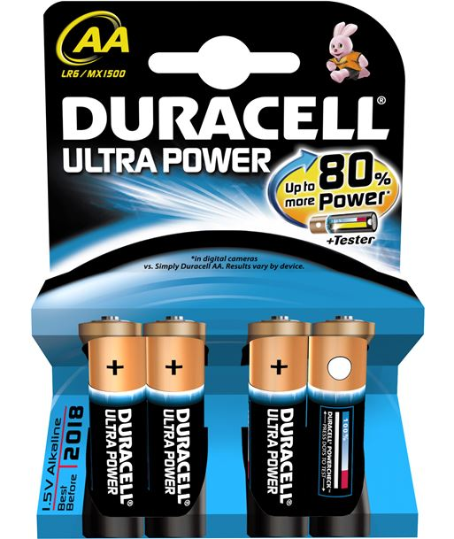 Duracel AALR06ULTRA pila l ultra power aa(lr06) 4 un alcalinas - AA(LR06)ULTRA