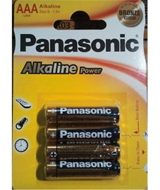 Pack 4 pilas alcalinas Panasonic lr-03 (aaa) PANLR03_4 - 5410853039334