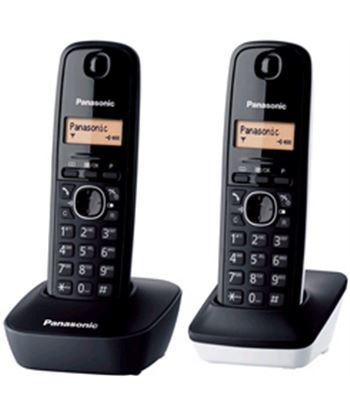 Panasonic pack 2 dect pan kx-tg1612sp1 duo blanco y negro kxtg1612sp1