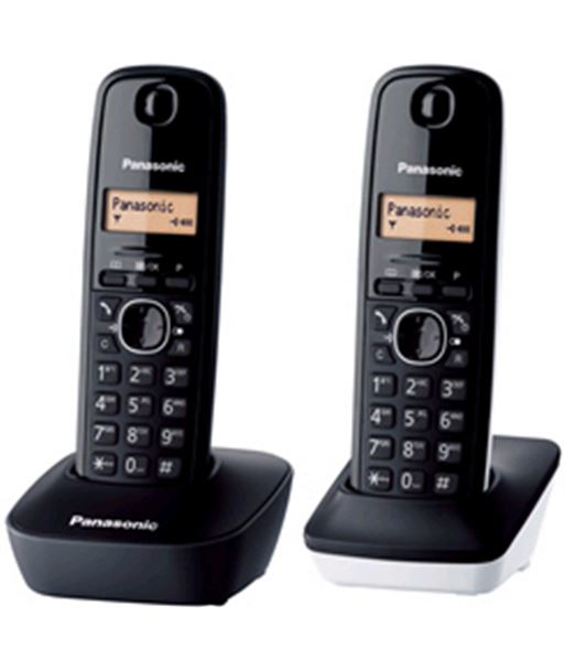 Panasonic pack 2 dect pan kx-tg1612sp1 duo blanco y negro kxtg1612sp1 - KXTG1612SP1