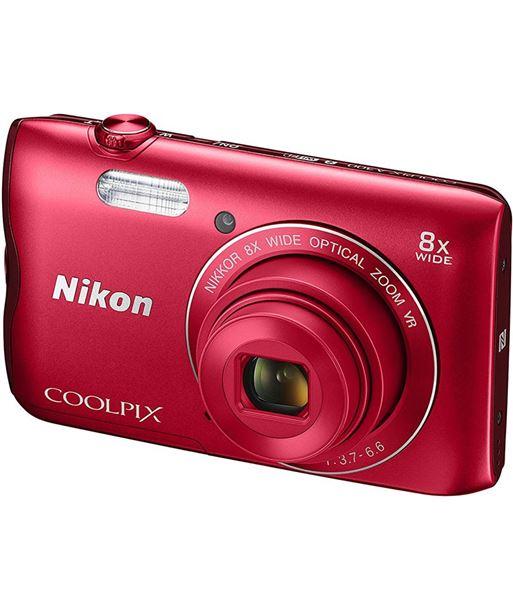 Cã¡mara de fotos digital Nikon coolpix a300 20mp 8x roja NIKA300R - A300
