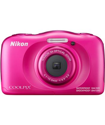 Cã¡mara de fotos Nikon coolpix w100 sumergible pink 13mp 4x w100p