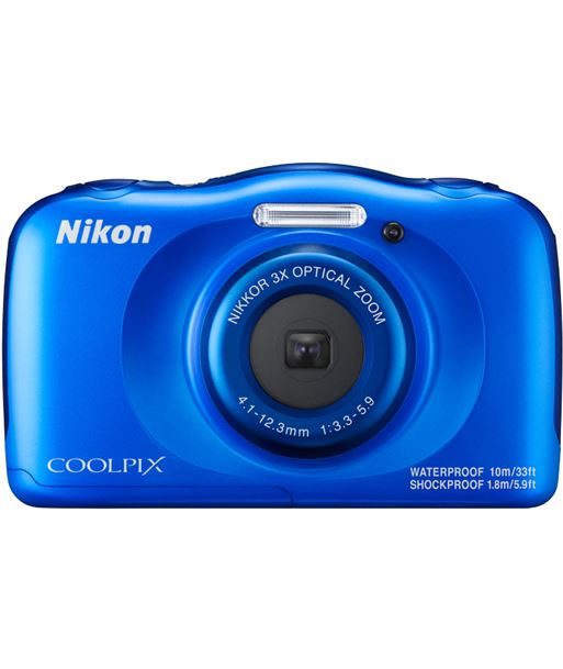 Nikon cã¡mara de fotos sumergible coolpix w100 13mp 4x blue w100bl - W100BL
