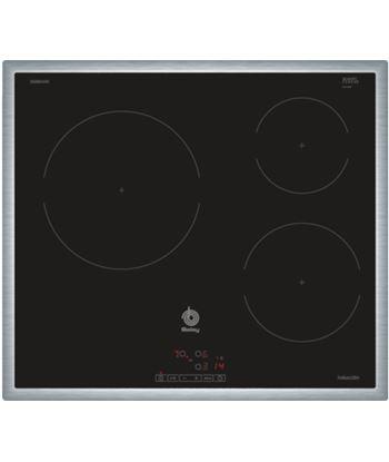 Placa inducción  independiente  Balay 3eb865xr, 3 zonas, inox 3EB864XR