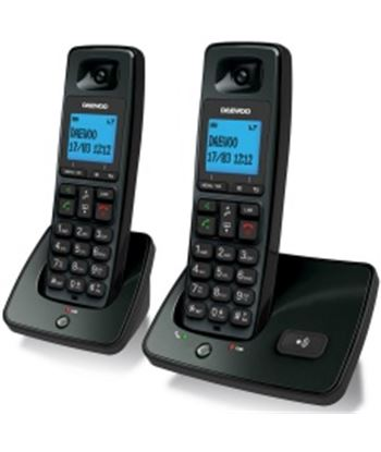 Pack 2 telã©fonos inalã¡mbricos dect Daewoo dtd-4100 negros DAEDW0096