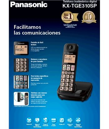 Telefono inal Panasonic kx-tge310spb personas mayo KXTGE310SPB - KXTGE310SPB