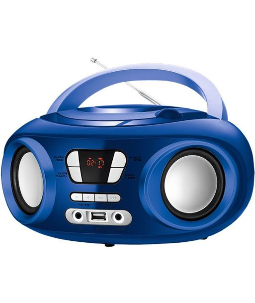 Brigmton radio cd mp3 usb bluetooth memoria azul briw_501_a - W_501_A
