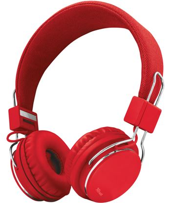 Auriculares diadema Trust ziva manos libres rojos TRU21822
