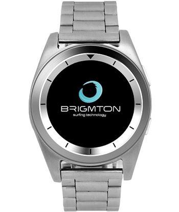 Smartwatch Brigmton bt6 bluetooth pulsãmetro doble correa plata BRIBWATCH_BT6_S