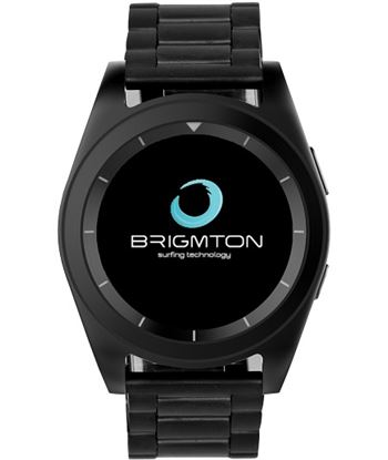 Smartwatch Brigmton bt6 bluetooth pulsãmetro doble correa negro BRIBWATCH_BT6_N