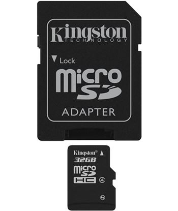 Memoria micro sdhc 32gb Kingston +adaptador sd SDC4/32GB
