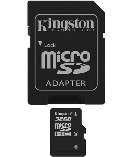 Memoria micro sdhc 32gb Kingston +adaptador sd SDC4/32GB - SDC432GB