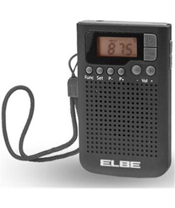 Radio de bolsillo Elbe RF93 digital negra, de bols