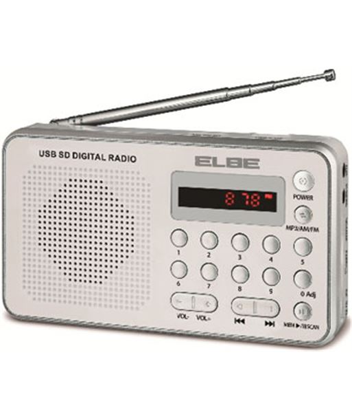 Radio digital Elbe portátil con lector usb+sd, rf4 RF49USB - 8435141904399