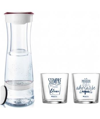 Brita botella fill&serve mind granate + 2 vasos 107434