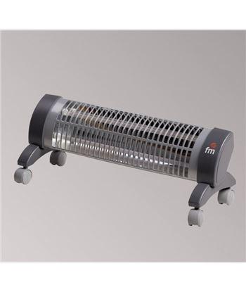 F.m. radiador de cuarzo fm 2302r 1200w, con ruedas