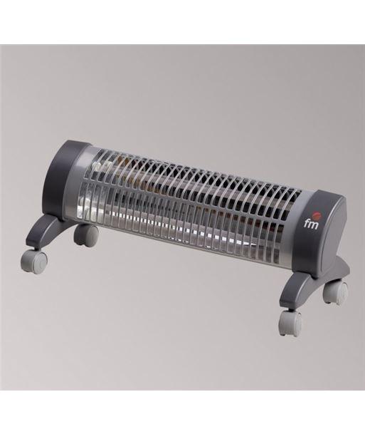 F.m. radiador de cuarzo fm 2302r 1200w, con ruedas - 04200502