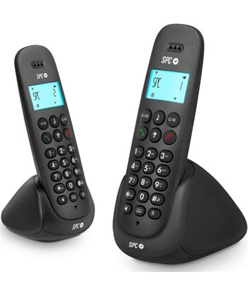 Teléfono dect Telecom art duo 7312N negro Telefonía doméstica - TLC7312N