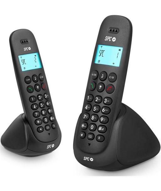 Teléfono dect Telecom art duo 7312N negro - TLC7312N