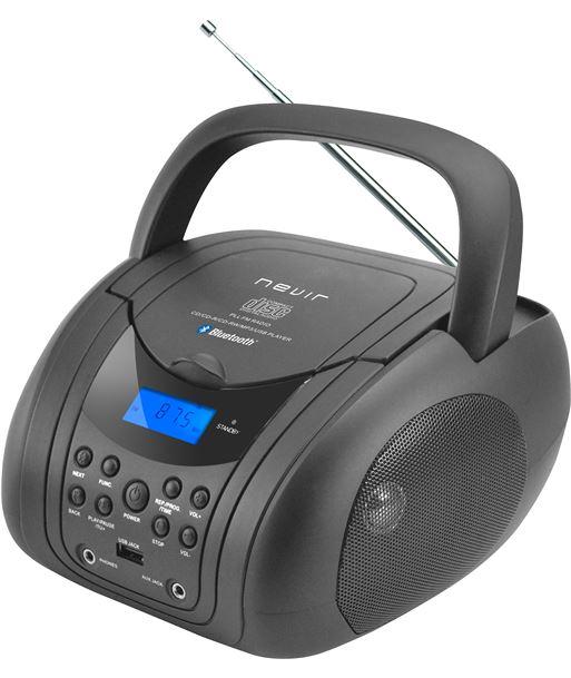Radio cd bluetooth mp3 Nevir negro NVR483UBNEGRO - 8427155012238