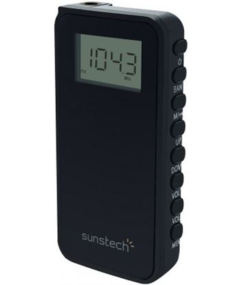 Radio portatil Sunstech RPD23BK, negro