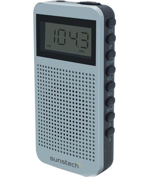 Radio portatil Sunstech RPDS12SL, plata - RPDS12SL