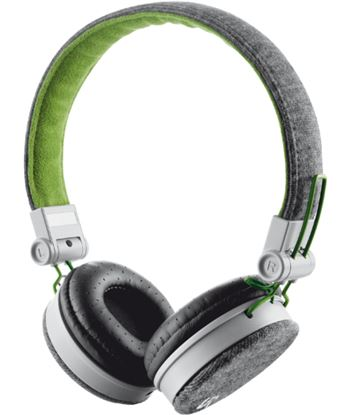 Auricular diadema Trust fyber gris/verde TRU20080