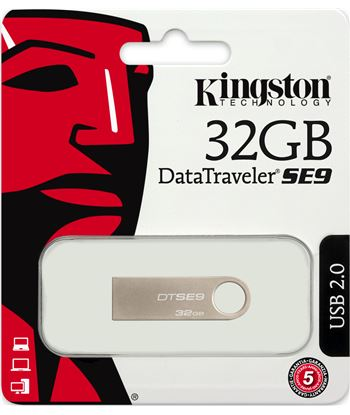 Pen drive Kingston 32gb dtse9 metalic DTSE9H/32GB Perifericos accesorios - 14801766_1205