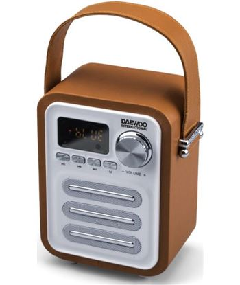 Radio digital retro Daewoo dbt07 bluetooth usb sd naranja DBT07OR
