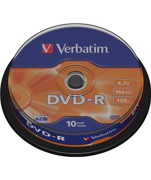 Bobina 10 dvd -r Verbatim 4,7 gb 16x VERDVD-R-10 Perifericos - 023942435235
