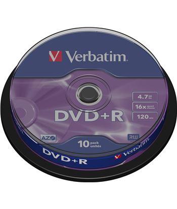 Bobina 10 dvd +r Verbatim 4,7 gb 16x VERDVDMASR_10